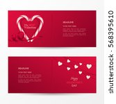 vector set of cute banners for... | Shutterstock .eps vector #568395610
