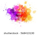 watercolor imitation... | Shutterstock .eps vector #568413130