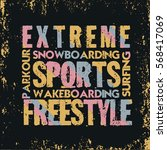 extreme sports t shirt   design ... | Shutterstock .eps vector #568417069