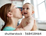 family  child and parenthood... | Shutterstock . vector #568418464