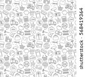 seamless pattern business ... | Shutterstock .eps vector #568419364