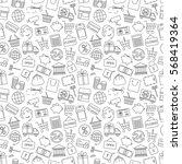 seamless pattern business ... | Shutterstock .eps vector #568419364