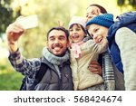 travel  tourism  hike ... | Shutterstock . vector #568424674