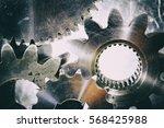 large gears and cogwheels... | Shutterstock . vector #568425988