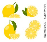icon set lemon  vector... | Shutterstock .eps vector #568429894