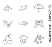 Beautiful Nature Icons Set....