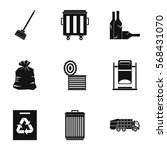 trash icons set. simple... | Shutterstock .eps vector #568431070