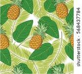 seamless vector pattern.... | Shutterstock .eps vector #568437784