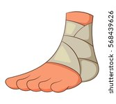injured ankle icon. cartoon... | Shutterstock .eps vector #568439626