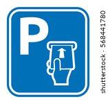 parking card vector icon | Shutterstock .eps vector #568441780