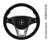 realistic car. luxury steering... | Shutterstock .eps vector #568444246