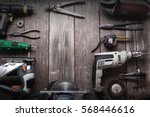 electric hand tools ... | Shutterstock . vector #568446616