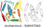 Mr Pencil. Vector Color Cartoo...