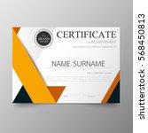 certificate premium template... | Shutterstock .eps vector #568450813