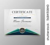 certificate premium template...   Shutterstock .eps vector #568450840
