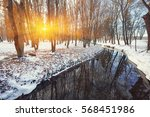 scenic view of the river and... | Shutterstock . vector #568451986