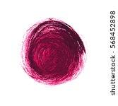 vector brush strokes circles of ... | Shutterstock .eps vector #568452898