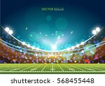 american football field with... | Shutterstock .eps vector #568455448