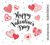 happy valentine's day greeting...   Shutterstock .eps vector #568458043