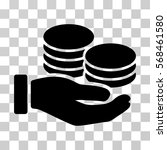 salary hand icon. vector... | Shutterstock .eps vector #568461580