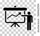 project presentation icon....   Shutterstock .eps vector #568462504