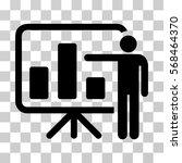 bar chart presentation icon.... | Shutterstock .eps vector #568464370