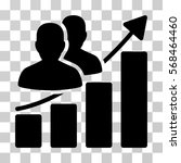 audience growth bar chart icon. ... | Shutterstock .eps vector #568464460