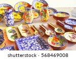 colorful ceramic pottery  ...   Shutterstock . vector #568469008