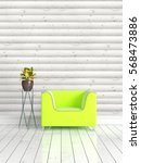 modern bright interior . 3d... | Shutterstock . vector #568473886