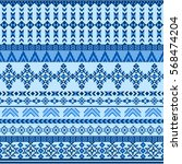 ethnic seamless pattern with... | Shutterstock .eps vector #568474204