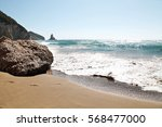 summer photo of sea and beach  | Shutterstock . vector #568477000