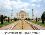 the taj mahal is a white marble ... | Shutterstock . vector #568479814
