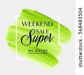 weekend super sale sign over...   Shutterstock .eps vector #568483504