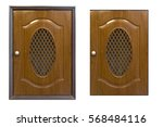 brown cabinet isolated on white   Shutterstock . vector #568484116