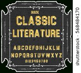 handwritten handcrafted font... | Shutterstock .eps vector #568484170