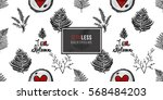 vintage seamless pattern with... | Shutterstock .eps vector #568484203