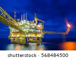 offshore oil and gas central... | Shutterstock . vector #568484500