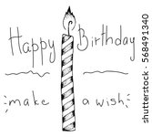 cute happy birthday card with... | Shutterstock .eps vector #568491340