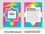 abstract vector layout...   Shutterstock .eps vector #568500250