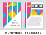abstract vector layout... | Shutterstock .eps vector #568506553
