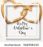 happy valentine day festive... | Shutterstock .eps vector #568508143