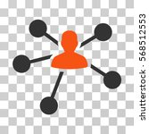 person relations icon. vector... | Shutterstock .eps vector #568512553