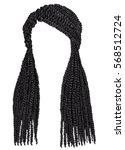trendy african long hair... | Shutterstock .eps vector #568512724