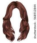 trendy woman long hairs red... | Shutterstock .eps vector #568512844