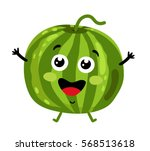 cute fruit watermelon cartoon... | Shutterstock .eps vector #568513618