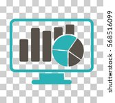 statistics monitoring icon.... | Shutterstock .eps vector #568516099