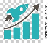 rocket startup chart icon.... | Shutterstock .eps vector #568516204