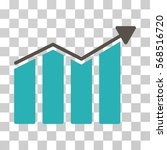trend icon. vector illustration ... | Shutterstock .eps vector #568516720