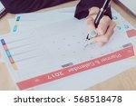 business calender planner... | Shutterstock . vector #568518478