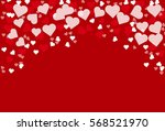 heart bokeh pattern with red... | Shutterstock .eps vector #568521970